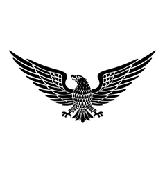Detailed Hand Drawn Eagle Holding Scroll vector image