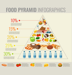 food pyramid healthy eating infographic healthy vector image