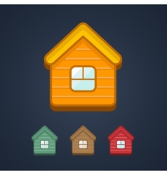 Group of home symbol on dark background vector image