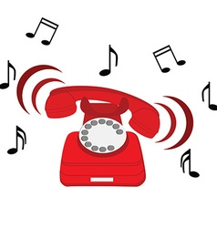 Red phone vector image
