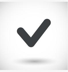 Single check mark flat icon vector