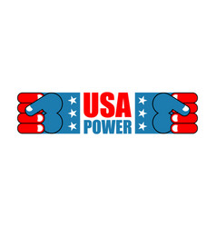 usa patriot fist emblem sign of strong america vector image