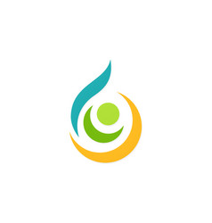abstract water ecology logo vector image vector image