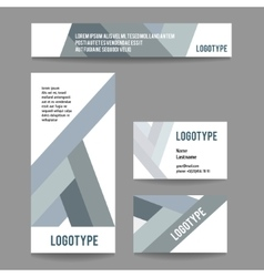 corporate template with stripes vector image