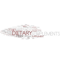 dietary word cloud concept vector image vector image