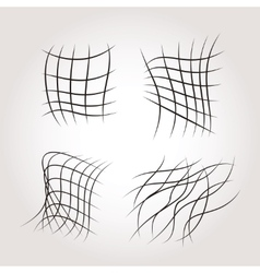 Net Grids Mysterious Line Structures vector image vector image
