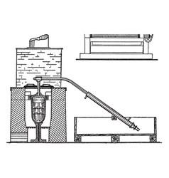 retort furnace for gold bullion vintage vector image