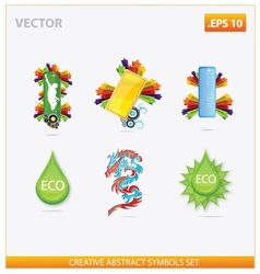 abstract design and creative eco sign vector image vector image