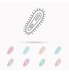 Bacteria icon Medicine infection symbol vector image