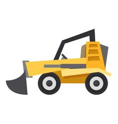 bulldozer icon flat style vector image