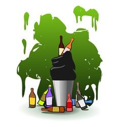 Full Recycle bin vector image