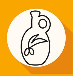 olive oil bottle icon vector image