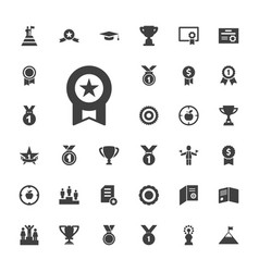 33 achievement icons vector
