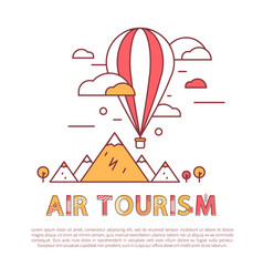 air tourism balloon poster vector image
