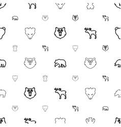 Alaska icons pattern seamless white background vector