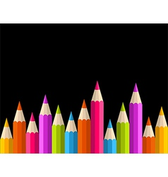 Back to school rainbow pencil banner pattern vector