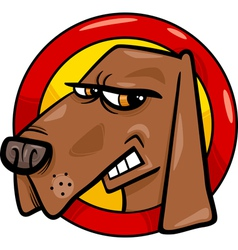 bad dog sign cartoon vector image