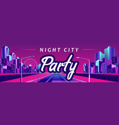 banner city party vector image