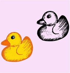 Bath rubber duck vector