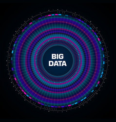 Big data visualization circular infographic with vector