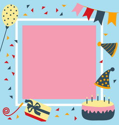 birthday and party card in square vector image