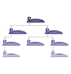 Blue business structure concept vector
