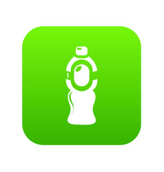 bottle juice icon green vector image