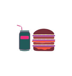 Burger soda Icon vector image