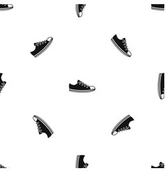 canvas sneaker pattern seamless black vector image