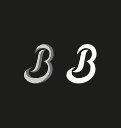 capital letter b logo in graffiti style set vector image