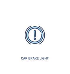 car brake light concept 2 colored icon simple vector image
