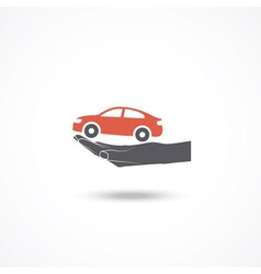 Car insurance icon vector image