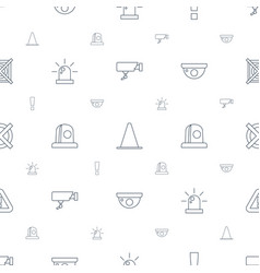 Caution icons pattern seamless white background vector