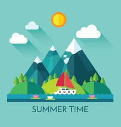 Color summer vector image