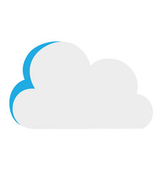 colorful nice cloud nature weather icon vector image