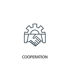 cooperation concept line icon simple element vector image