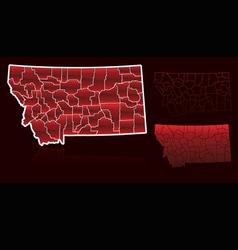 Counties of montana vector