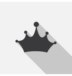 Crown Icon with Long Shadow vector image