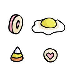 cute pick n mix candy cartoon vector image