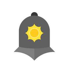 england police helmet icon in flat design vector image