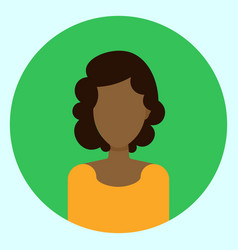Female avatar profile icon round african american vector