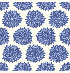 floral chrysanthemum japanese pattern vector image