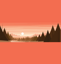 forest and coast landscape scene vector image