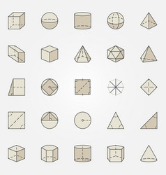 Geometry colorful icons vector