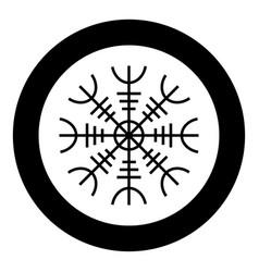 Helm awe aegishjalmur or egishjalmur icon vector