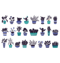 houseplants set vector image