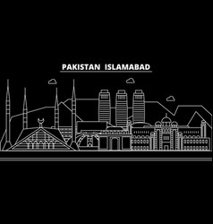 Islamabad silhouette skyline pakistan - islamabad vector