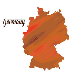 isolated germany map vector image