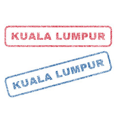 Kuala lumpur textile stamps vector