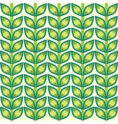 leaves plant pattern background vector image